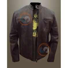 Get this Mark Walburg Contraband Faded Brown Leather Jacket at Stylowears.com