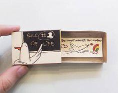 Carte d'amour drôle Cheesy cadeau pour elle / / Unique cadeau / carte Encouragement mignon / «Règle #1 de la vie - faire ce qui vous rend heureux» / OT102