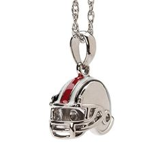 Ohio State Buckeyes Football Helmet Charm Pendant with Chain by Stone Armory -- Awesome products selected by Anna Churchill