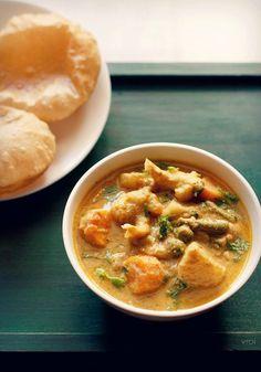 hotel style veg kurma recipe, how to make vegetable kurma recipe
