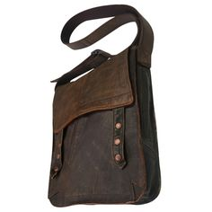 Upcycled Leather Bag... this and more can be found at http://www.vadenuevo.net/en/already-gone.html