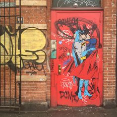Dawn Of Justice. Rich Simmons pasteup in New York.