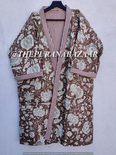 Cotton Kimono, Cotton Fabric, Cotton Jacket, Kimono Jacket, Kimono Top, Winter Kimono, Kimono Dressing Gown, Bridal Party Robes, Quilted Jacket