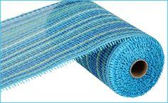 "NEW 2013 - 10"" X 10 YD WOVEN PAPER MESH - MULTI BLUE #paper #mesh #blue #10inch"