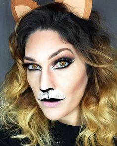 Maquillage d'Halloween félin