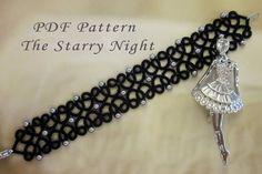 Tatting lace bracelet pdf pattern The Starry Night by TheKimAndI Tatting Bracelet, Lace Bracelet, Tatting Jewelry, Lace Necklace, Bracelets, Diy Jewelry, Handmade Jewelry, Needle Tatting, Tatting Lace