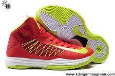 New Sport Red Neon Green Nike Lunar Hyperdunk 2013 Sports Shoes Store