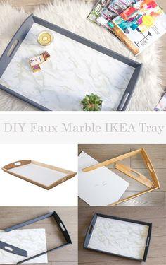 DIY Faux Marble IKEA Tray | Horses & Heels