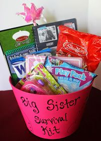 Big Sister Gift Ideas From New Baby . the Best Big Sister Gift Ideas From New Baby . 5 Gift Ideas for the New Big Brother or New Big Sister New Big Sister Gifts, Big Sibling Gifts, Big Sister Little Sister, Big Sisters, Baby Sister, Lil Sis, Sister Survival Kit, Survival Tips, Survival Supplies