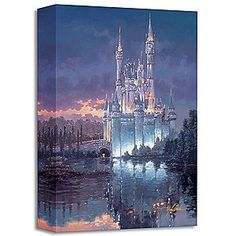 Disney Cinderella ''Royal Reflection'' Giclée by Rodel Gonzalez | Disney StoreCinderella ''Royal Reflection'' Gicl�e by Rodel Gonzalez - Disney artist Rodel Gonzalez captures the majesty of Cinderella Castle in the dramatic ''Royal Reflection.'' The limited edition gallery wrapped gicl�e on canvas, provides an atmospheric image of the Walt Disney World attraction.