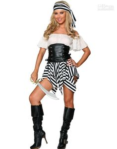 Wholesale Women's Sexy Pirate Costume Exclusive Deluxe Pirate Costume O28041, $10.24-11.8/Piece | DHgate