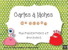 Multiplications et div. Daily Math, Multiplication And Division, 3rd Grade Math, Classroom Organization, Homeschool, Teaching, Education, Montessori, Google