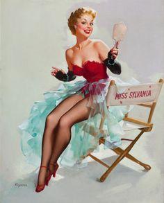 GIL ELVGREN - Admiring Miss Sylvania - circa 1955