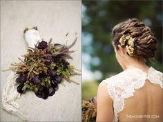 Purple artichoke and unripe blackberry bouquet   Photo by The Modern Type #artichoke #blackberry