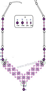 Necklace pattern schema | Beads Magic.  #Seed #Bead #Tutorials