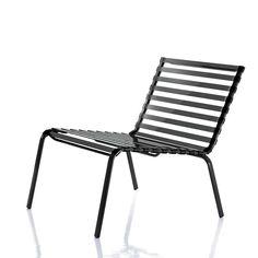 Striped Low Chair - Magis Striped Auch mit Armlehnen lieferbar. Material: Gestell aus rostschutzbehandeltem, polyesterlackiertem Stahlrohr. Sitz und Rückenlehne: Sprossen aus Polyamid. Hergestellt im