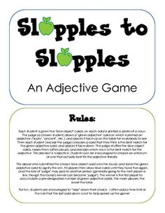 Slapples to Slapples - an Adjective Game from @sublimespeech !