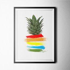 Abstrait ananas Print affiche sticker décoration par Northshire