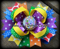 Boutique bookworm school boutique hair bow back by tootoocute4you