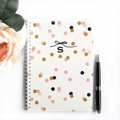 Personalized Notebook Confetti Choose your by LetterLoveDesigns, $26.00
