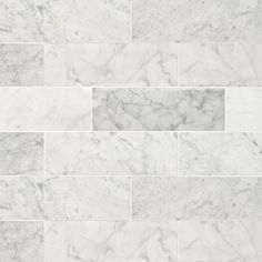 or for floor - Carrara White Honed available as well Stacked Stone Walls, Tile Projects, Carrara, Tile Floor, Flooring, Savannah, Tile Flooring, Wood Flooring, Floor