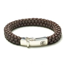 Rebel and Rose Absolutely Leather Earth Square Armband RR-L0007-S € 69,50