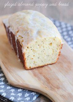 Glazed Almond Poppy Seed Bread