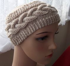 Ear warmers, Ear muffs, Headband, Hand knitted Ear warmers, Hand made ear muffs, Hand knitted headband, Cable knitted headband, Aran style by Jstitchuk on Etsy