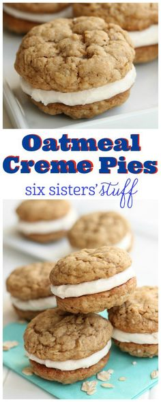 Oatmeal Creme Pies recipe from @sixsistersstuff