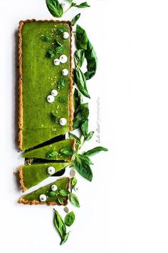 basil & lemon tart