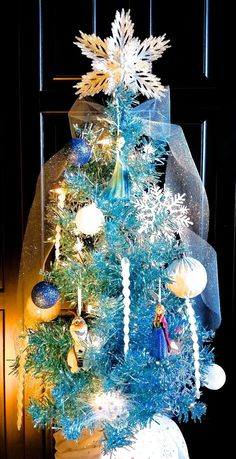 Frozen Christmas Tree Ornament • Blue Tree • Elsa • Anna • Olaf Sven • Disney | eBay