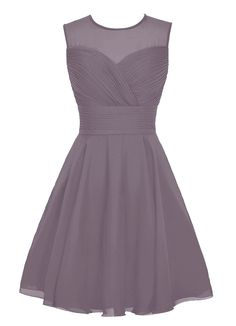 Dresstells® Short Chiffon Bridesmaid Dress See Thorough Party Homecoming Dress | Amazon.com