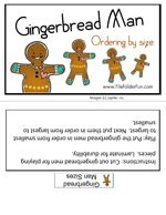 GIngerbread Man Size Sequencing Game