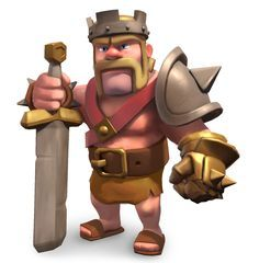 clash of clans characters | Barbarian King - guide to heroes in Clash of Clans