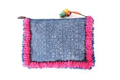 Etsy の Pom Poms Pattern Clutch Hill Tribe Fabric by ThaiHandbags