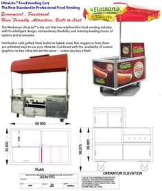 UltraLite Hot Dog Cart