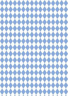 FREE printable harlequin pattern paper | blue