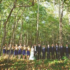 pretty blue bridal party