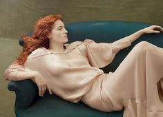 A statue or a painting?  Florence Welch by Annie Leibovitz for Vogue US August 2014