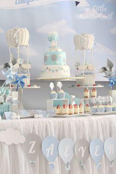 Sweet Table from a Hot Air Balloon Birthday Party via Kara's Party Ideas   KarasPartyIdeas.com (16)