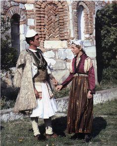 Albanian Folk Costumes - Veshje Popullore Shqiptare. Wedding dresses. Fier. Second half of XIX century.