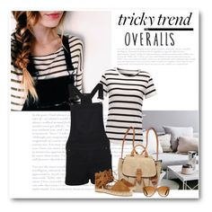 """""""Tricky Trend: Overalls"""" by bliznec ❤ liked on Polyvore featuring WearAll, MICHAEL Michael Kors, Aquazzura, Shwood, TrickyTrend, overalls and polyvorecontest"""