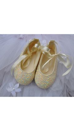 Crystal flower girl shoes (but in white)