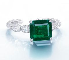 A Stunning Emerald and Diamond Bangle, by Etcetera | Christie's Hong Kong Magnificent Jewels