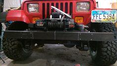 Jeep YJ bumper/ winch plate project