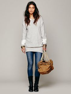 Free People Hoodie Pullover... this is the perfect traveling look
