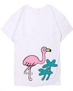 Pink flamingos t shirt for teenage girls cute animal tops