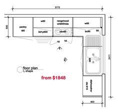 Nice Floor Plan_L.gif (800×758) Small Kitchen Floor Plans, Outdoor