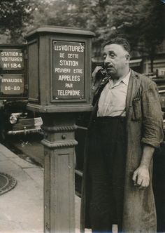 """PARIS 1955 - Bornes """"Appels Taxis"""" Chauffeur - PR 73   eBay"""