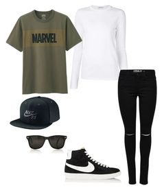 """Untitled #191"" by yasminabuwi on Polyvore featuring T By Alexander Wang, Uniqlo and NIKE"